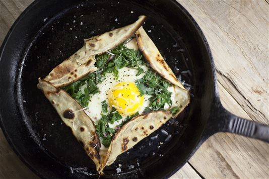 French-style galettes with chard and gruyère recipe