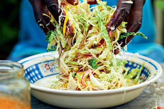 Levi Roots' hot and fruity Caribbean coleslaw