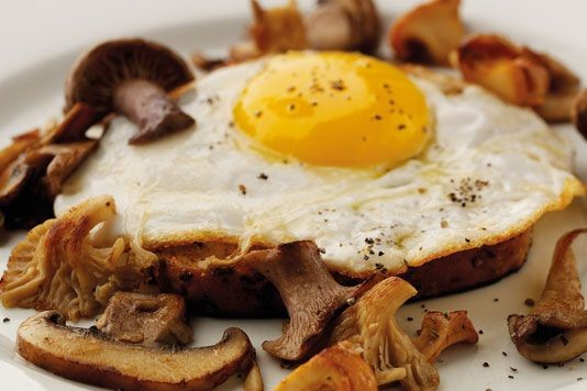 Duck egg on toast recipe