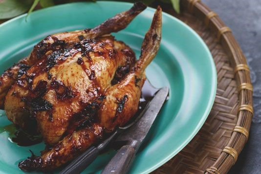 Gordon Ramsay's wild honey-glazed roasted chicken recipe