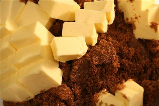 Image result for creamed butter and brown sugar