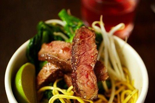 Jamie Oliver's rib-eye stir-fry with dan dan noodles recipe
