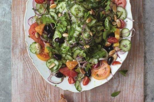 Jamie Oliver S Modern Greek Salad With Feta Parcels Recipe