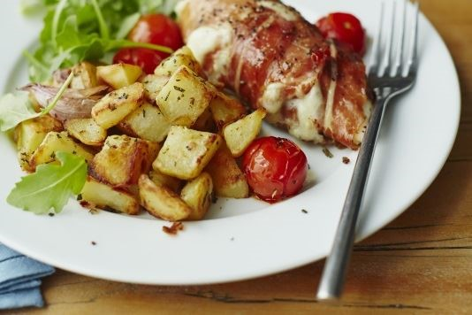 Italian roast chicken with rosemary potatoes recipe