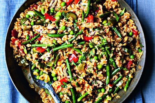 Paella verduras recipe