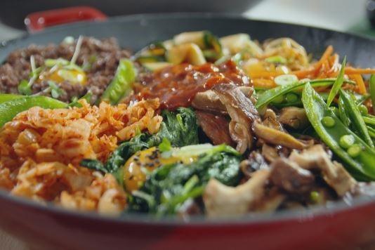 Simple traditional bibimbap recipe