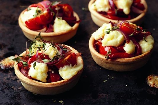 Lancashire red onion and pepper tarts recipe