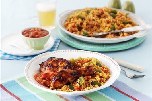 Salsa jambalaya rice recipe