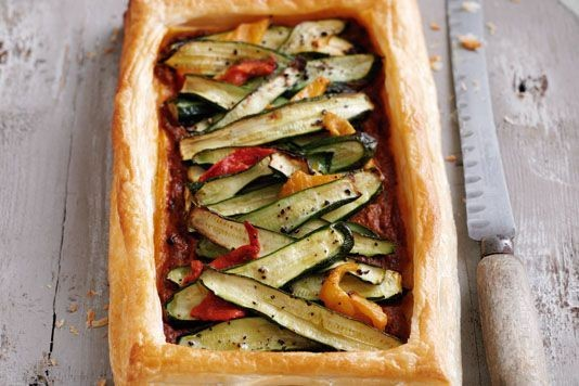 Liz McClarnon's cheese and courgette tart recipe