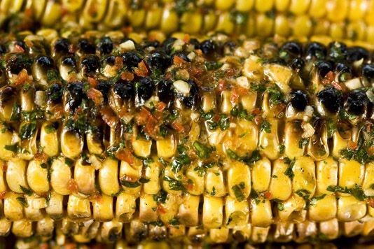Barbecued sweetcorn and smoky butter recipe