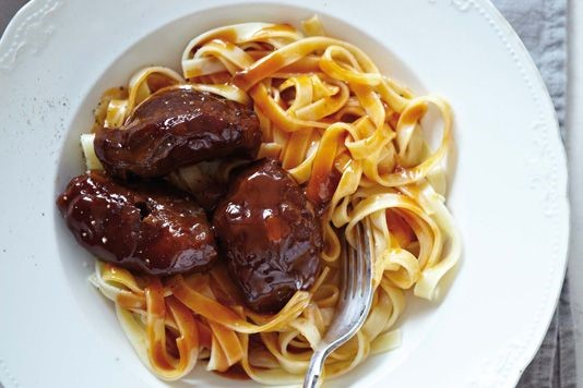 Sweet and sour pork cheeks recipe
