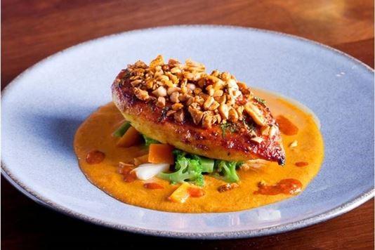 Chicken breast with Marmite korma sauce recipe