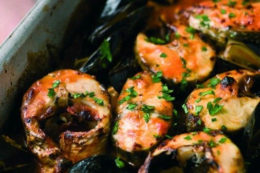 Grey mullet with mussels recipe