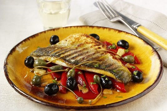 Pan-fried sea bass recipe