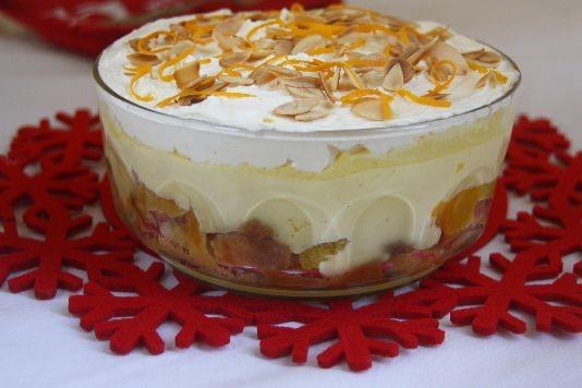 Orange and almond trifle