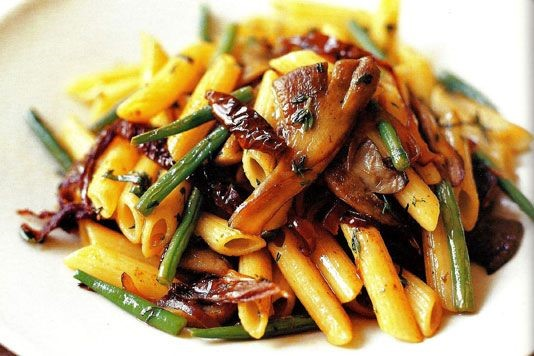 Penne with oyster mushrooms recipe
