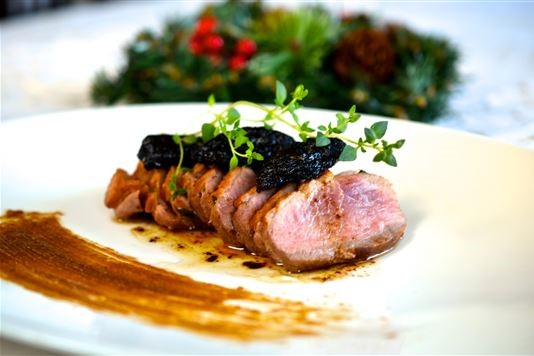 Pan Fried Duck Breast With Prunes And Thyme Recipe