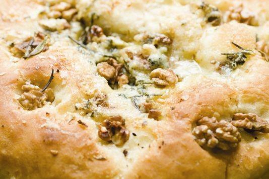 Walnut and rosemary focaccia recipe