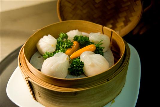 Steamed prawn and bamboo shoot 'rabbit' dumplings recipe