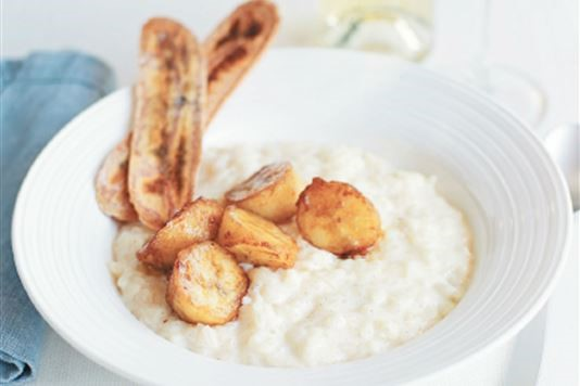 Michel Roux Jr's rice pudding with banana and spice recipe