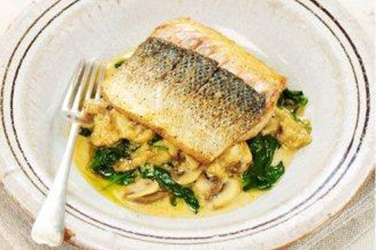 Sea bass with lemon sauce recipe for Bass fish cooking