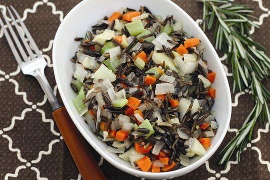 Rosemary wild rice pilaf recipe