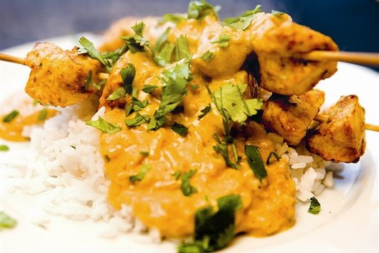 Creamy chicken satay recipe