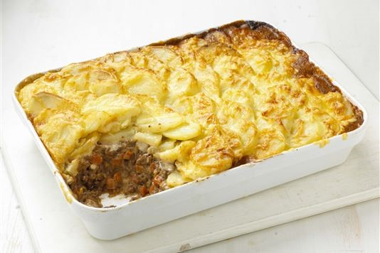 Mary Berry's Shepherd's pie dauphinois recipe