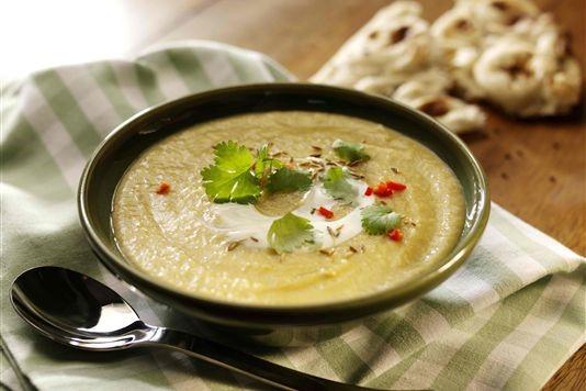 Spiced leek, potato and lentil soup recipe