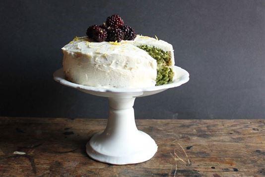 Nettle and lemon cake with lemon buttercream recipe