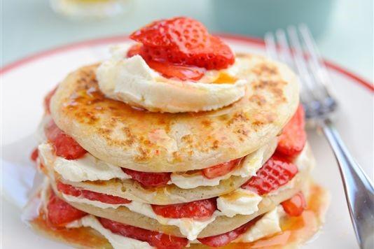 Strawberry Scotch pancakes recipe