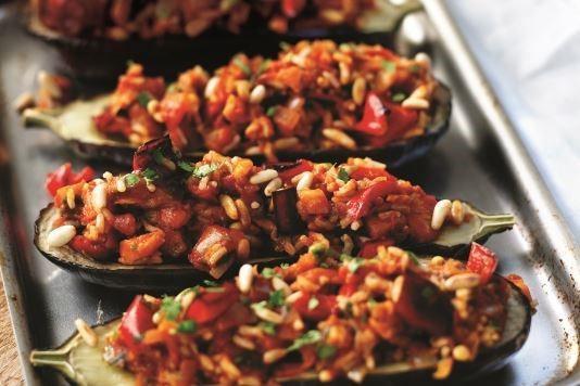 Stuffed aubergines recipe
