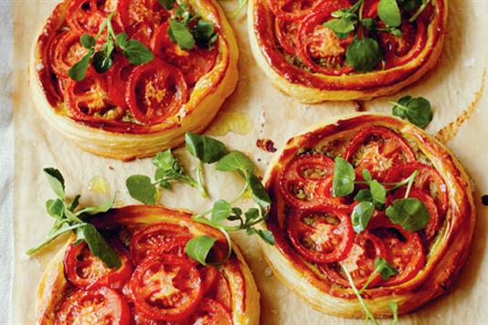 John Torode's tomato and pesto tarts recipe