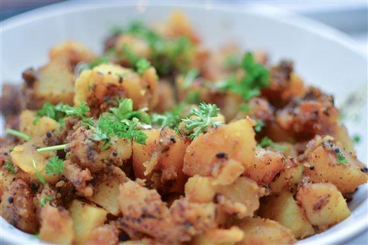 Simply spiced potato curry recipe