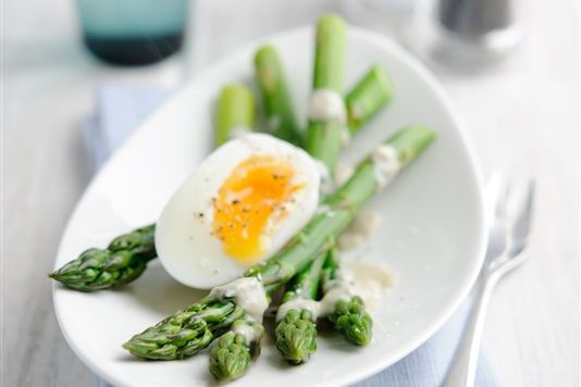 Valentine Warner's asparagus with soft egg recipe