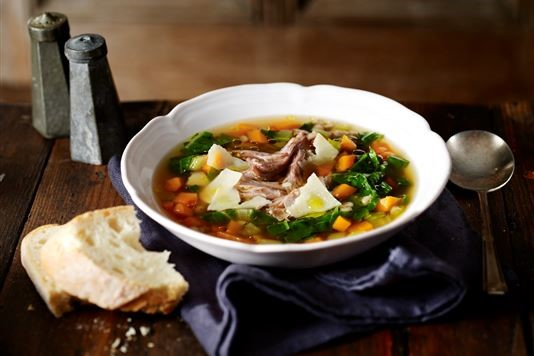Valentine Warner's duck soup with a Christmas kick recipe